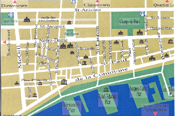 Map Of Old Montreal Cirano   Conférences