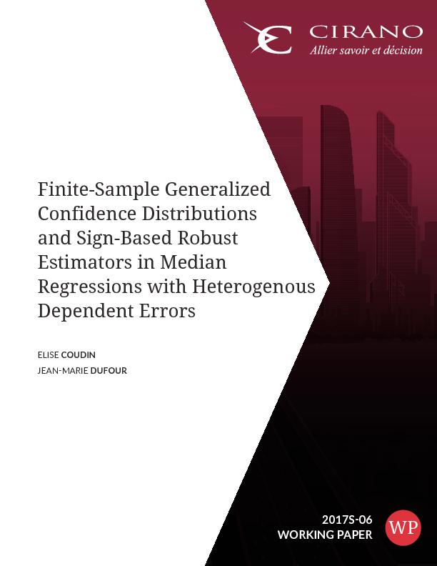 cirano sommaire finite sample generalized confidence